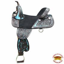 18 in Hilason Classic Treeless Western Barrel Trail Leather Horse Saddle... - $494.95