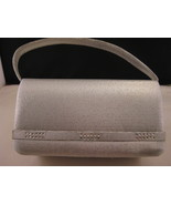 Evening Purse In Silver Sparkle With Crystals New - $18.00