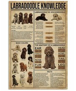 VibesPrints Labradoodle Knowledge Poster Art Print - Birthday Gift For D... - $25.59+