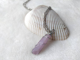 Necklace - Pink Aura Quartz Crystal - Crystal Jewelry - Heart Chakra - H... - $25.00