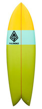 "Paragon Retro Fish 6'5"" Multi-Color Surfboard - $400.00"