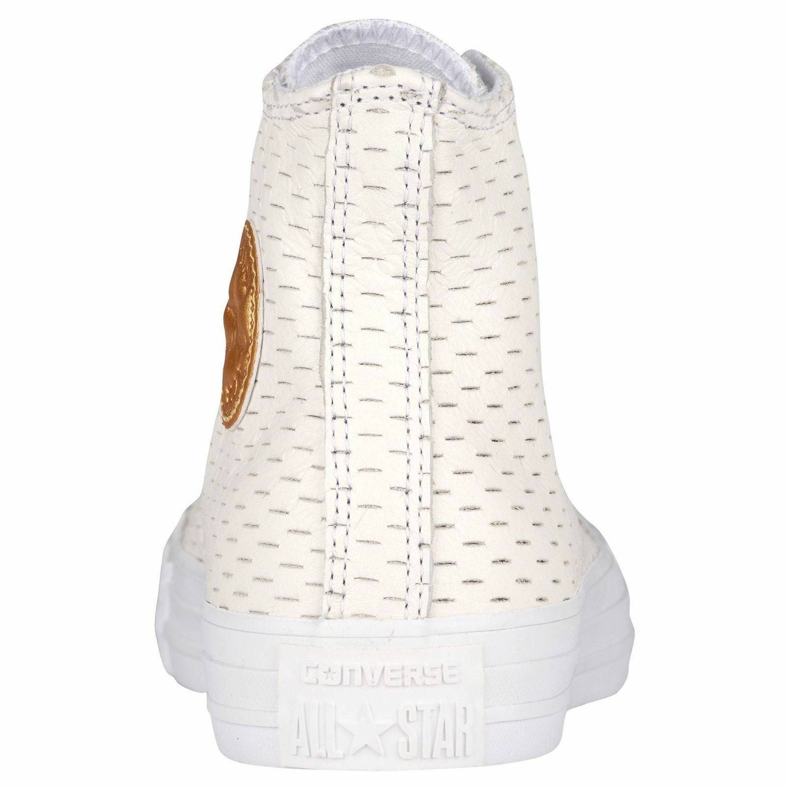 Converse All Star Leather High White Out Pack White/Gold 153115C Mens Shoe image 5
