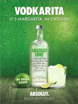 VODKARITA, IT'S MARGARITA, IN SPANISH - ABSOLUT VODKA MAGAZINE AD - NEW ... - $9.99