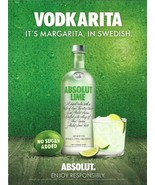 VODKARITA, IT'S MARGARITA, IN SPANISH - ABSOLUT VODKA MAGAZINE AD - NEW ... - $9.99