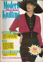 Modern Machine Knitting Apr 1989 Magazine Pink Black Wrap Over Cardigan ... - $5.69