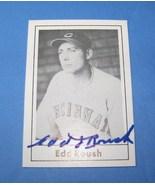 Edd Roush TCMA Grand Slam Baseball Card 1978 Autographed - $99.00