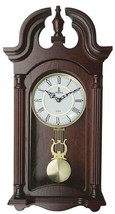 "Nice Wood Grandfather Silent Wall Clock Roman Numeral Pendulum 23.5"" 9.2... - $239.00"