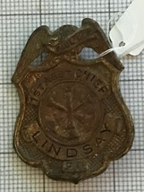 Antique Lindsay California Assistant Chief Fire Department Badge Paul Cox - $60.00