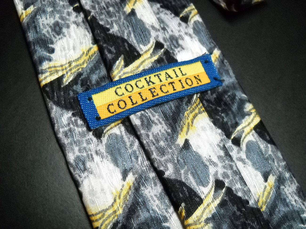 Stonehenge Cocktail Collection Neck Tie Waves of Grays Golds Black Untitled