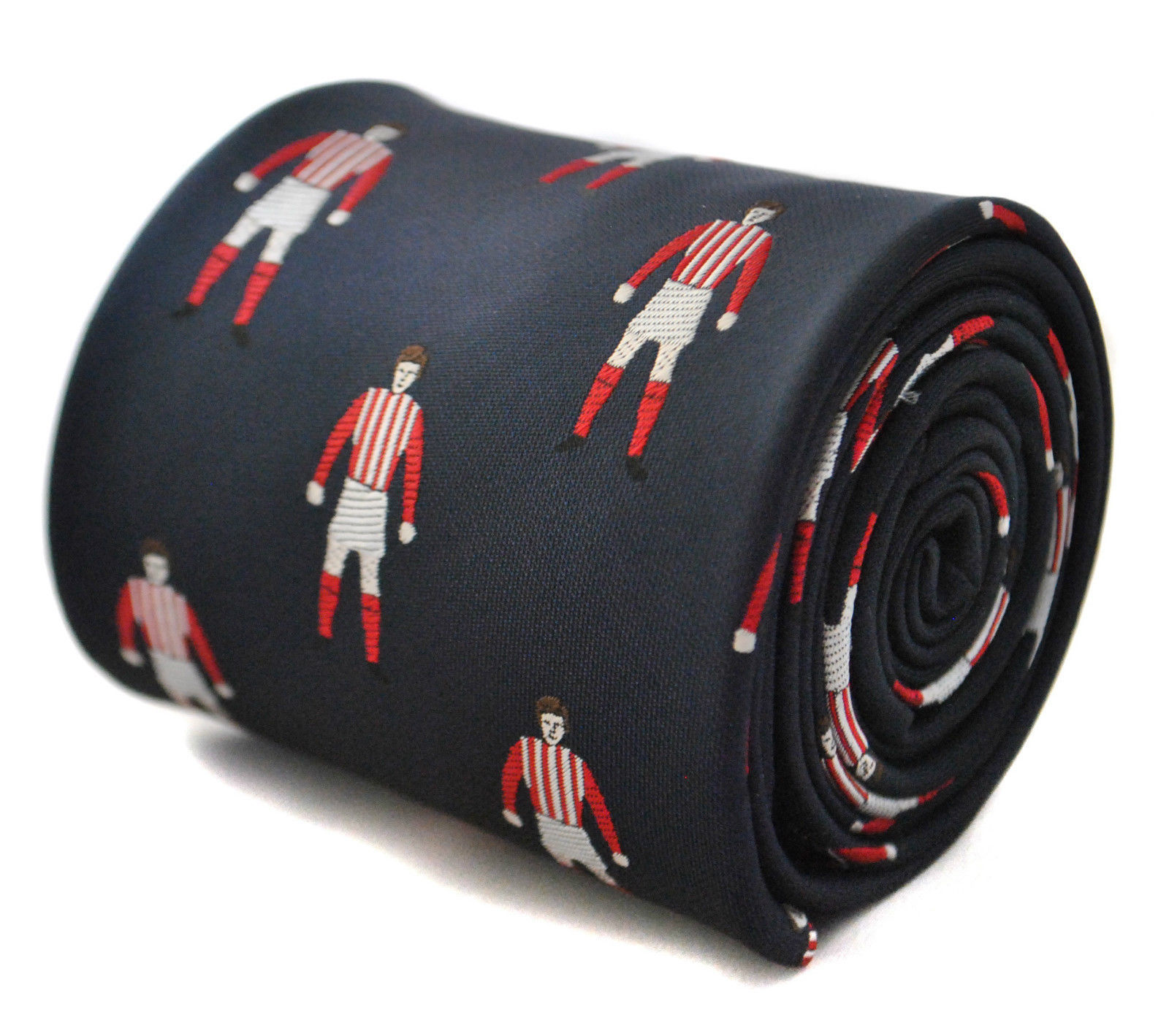 Red & white stripe footballer kit mens tie FT1804 like Stoke Football Club