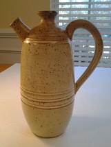 Handmade Pottery 2 spout Handle pitcher Corontzes Pottery Clemson,SC - $14.84