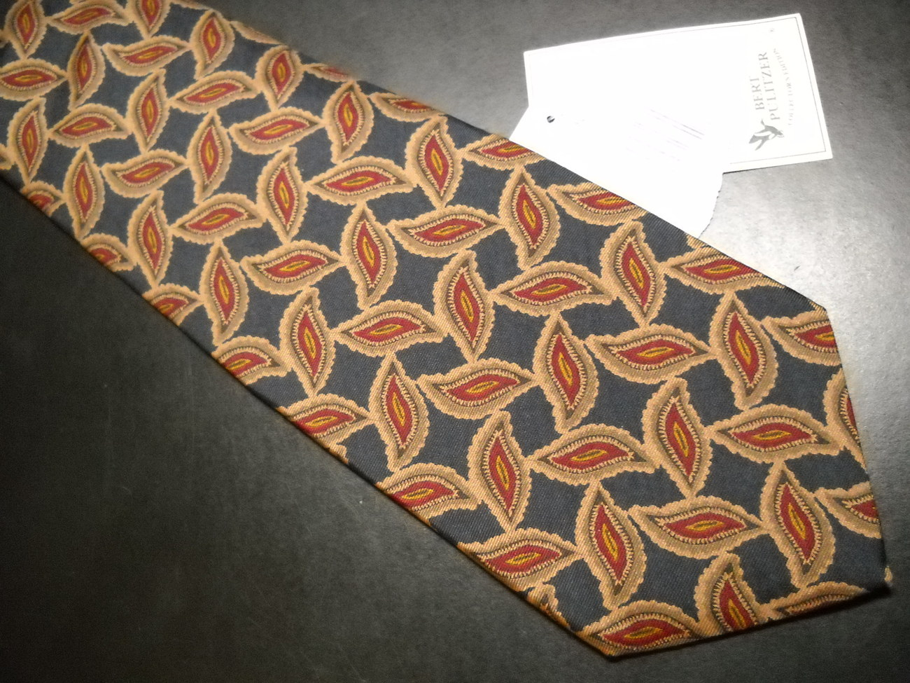 Bert Pulitzer Neck Tie Browns and Blues Never Used and Unworn with Tags