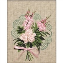 RIOLIS Counted Cross Stitch Kit, Bouquet Of Tenderness, Kit #R1073 - $15.40