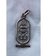Vintage Sterling Silver Charm Scarab Cartouche Estate  - $39.95