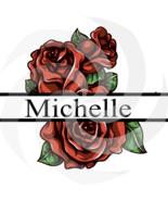 Flower Split Monogram Michelle 100smp-Digital Clipart-Gift-PNG-Banner-Je... - $1.99