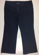 Talbots Womens  PetitesDark Wash Denim Trouser Jeans  Size 18W Petites - $14.98
