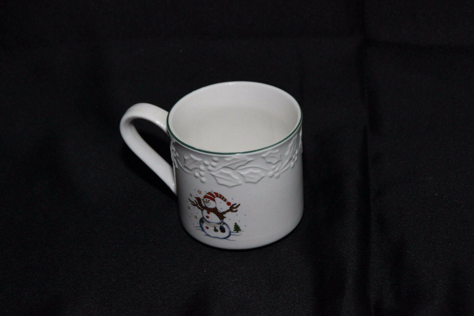 GEI Snowman Xmas 4 Cups 2 Saucers image 4