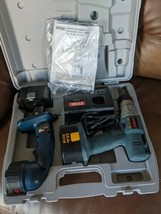 Ryobi 14.4 Drill with Flash Light, (2) Batteries, Charger and Case - $39.60