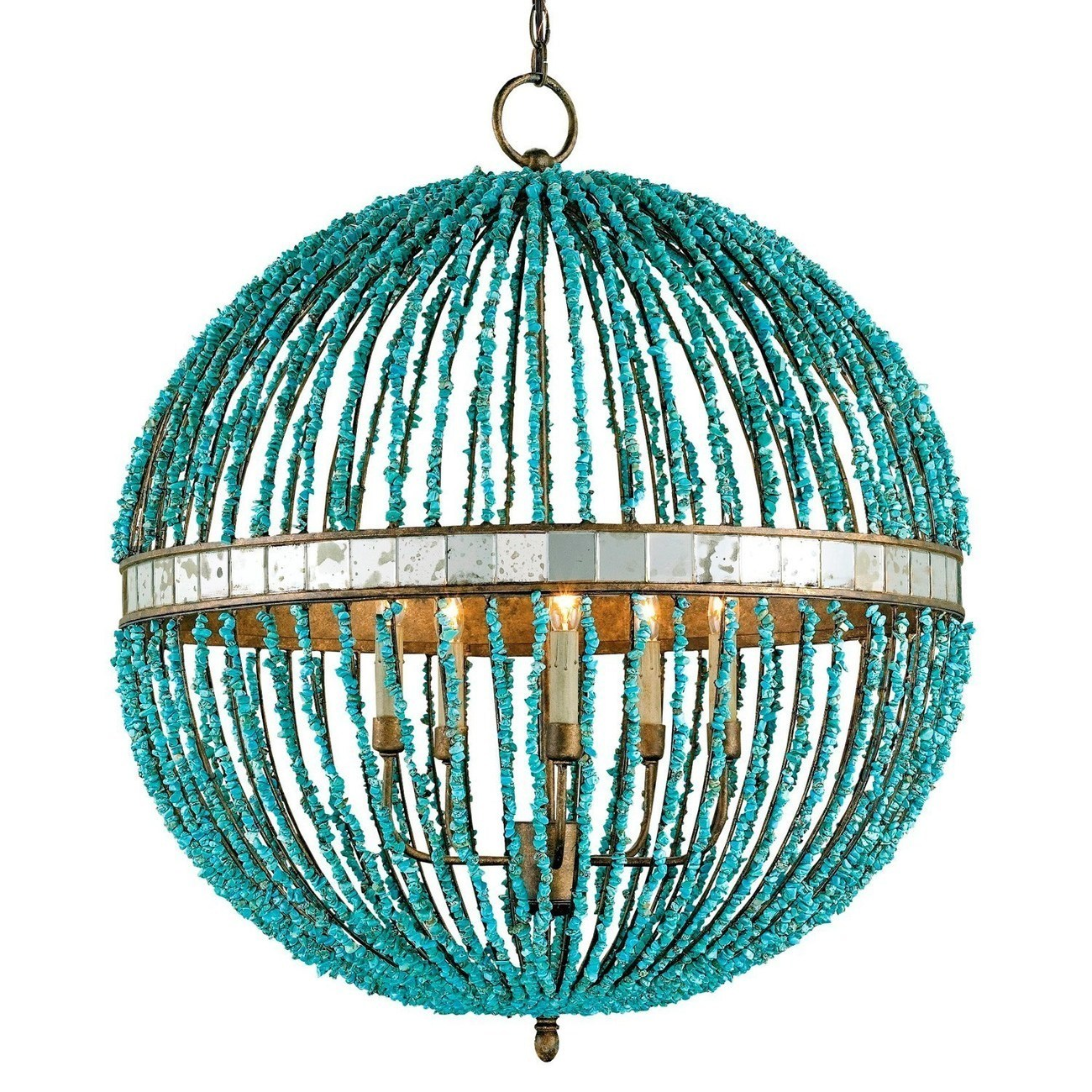 Currey Amp Co Company Alberto Orb Chandelier Iron