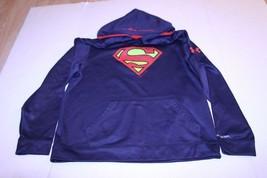 Youth Superman XL Athletic Performance Hoodie Hooded Sweatshirt Under Ar... - $18.49