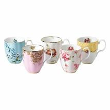 Royal Albert 100 Years Of Royal Albert 1950-1990 5-Piece Mug Set New Ope... - $185.13