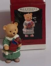 Vintage Hallmark Ornament - DAUGHTER - 1996 - Girl Bear holding Box of Toys - $4.25