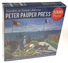Garden at Sainte Addresse 1000 Pc Jigsaw Puzzle 28x20 Peter Pauper Press... - $6.79
