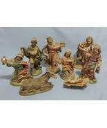 "Fontanini Style Lot of 8 Nativity Figures 6.5"" Size  - $59.40"