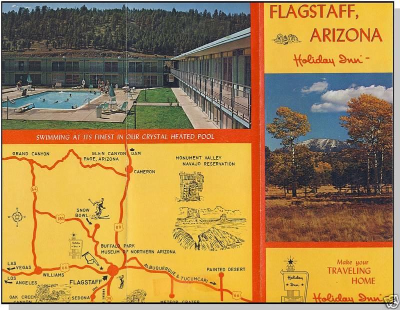 HOLIDAY INN BROCHURE & POSTCARD, Flagstaff, Arizona/AZ