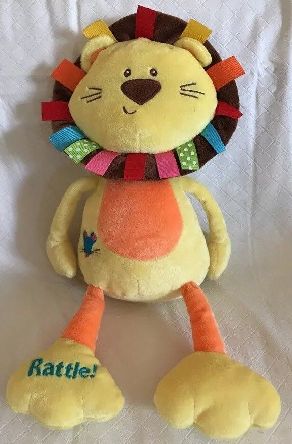 "Primary image for Baby Gund Color Fun Circus-Roarsly Lion 13.5"" Plush Crinkles Rattles Squeaks Toy"