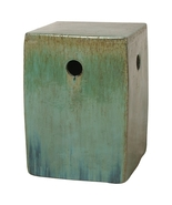 GREEN SQUARE, Ceramic Garden STOOL Side End TABLE, Perfect for Indoor / ... - $249.00