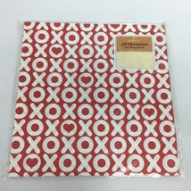 Vintage Hallmark Wrapping Paper XOXO Red White Gift Wrap New Sealed USA - $10.00