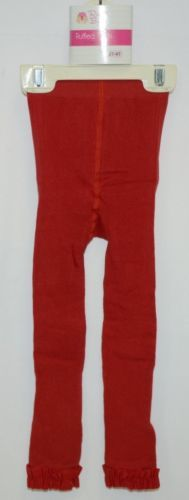RuffleButts RLKRD2T0000 Red Ruffled Footless Tights Size 2T to 4T