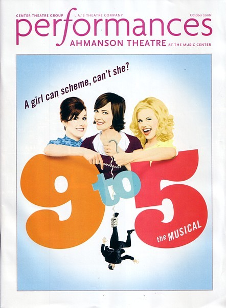 9 TO 5 MUSICAL souvenir playbill PREMIERE Los Angeles Megan Hilty Allison Janney
