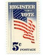 1964 5c Register & Vote, American Flag Scott 12... - £0.77 GBP