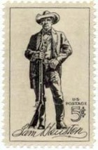 1964 5c Sam Houston Scott 1242 Mint F/VF NH - $0.99