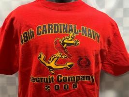 48th CARDINALS Navy Recruit Company 2006 T-Shirt Size L - $11.87