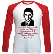 Franz Kafka Einer Zitate - NEW RED LONG SLEEVES COTTON TSHIRT - $19.53