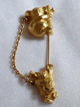 VTG AVON gold tone Two Koala bears chain Stick Hat Pin Brooch - $13.86