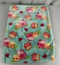 Baby Starters Soft Plush Fleece Girl Infant Blanket Owl Heart Bird Pink Blue - $79.19