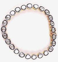 "Vintage Look Polki UnCut Diamond 925 Silver Tennis Bracelet Size 7"" CSJ1... - $314.50"