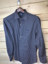 Ralph Lauren Polo Men's Stanton Classic Fit Shirt Blue Plaid Long Sleeve... - $17.59