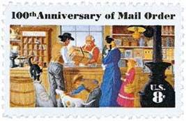 1972 8c Mail Order Business, 100th Anniversary Scott 1468 Mint F/VF NH - $0.99
