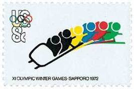 1972 8c Olympics Bobsledding Scott 1461 Mint F/VF NH - $0.99