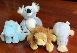 Ganz Webkinz Lil Kinz Lot Of 4 Plush Stuffed Animals Hippo Koala Lion Go... - $8.90
