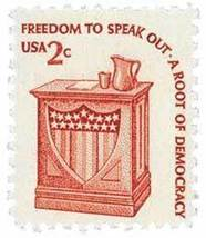 1977 2c Freedom to Speak Out, Democracy Scott 1582 Mint F/VF NH - $0.99