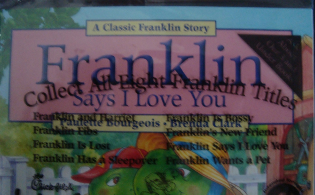 Franklin Says I Love You paperback from Chick-Fil-A