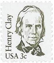 1980 3c Henry Clay Scott 1846 Mint F/VF NH - $0.99