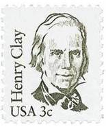 1980 3c Henry Clay Scott 1846 Mint F/VF NH - ₨64.38 INR