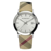 Burberry BU9025 Heritage Leather Swiss Made Womens Watch - $242.15 CAD
